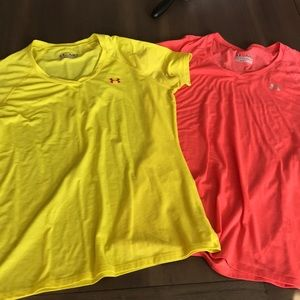 Two Under Armour Workout Tees